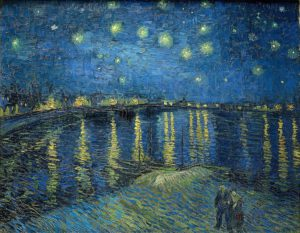 Starry Night over the Rhone, by Van Gogh