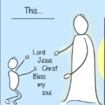 A small part of my cartoon on the Jesus Prayer.