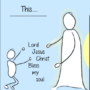 A small part of my cartoon on the Jesus Prayer.